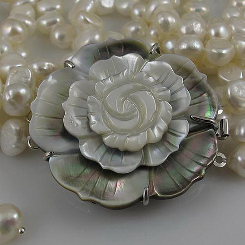 длинное жемчужное ожерелье 3rows 7-8 мм белый подлинный пресноводный жемчужный ожерелье серьги бесплатная доставка