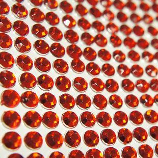 50 stks / partij Diamond DIY Auto Stickers Decals 3mm Decoratie Strip Bling Rhinestone