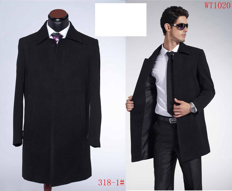 2018 Winter Men's Overcoat Suit Wool Outer Coat Black 50 From ...