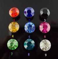 Wholesale Magnetic Earring 6mm - magnetic earrings non piercing earring multicolor 6mm crystal rhinestone mix wholesale