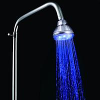 Wholesale Led Shower Light Control - Romantic Temperature Control 3 Color LED Light Bathroom Shower Head H4739