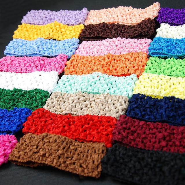 Crochet Headband Head Band Waffle 15inch Stretch For Adult Baby Girls Children Wholesale Hair Accessories For Kids Toddler Girl Hair Accessories From