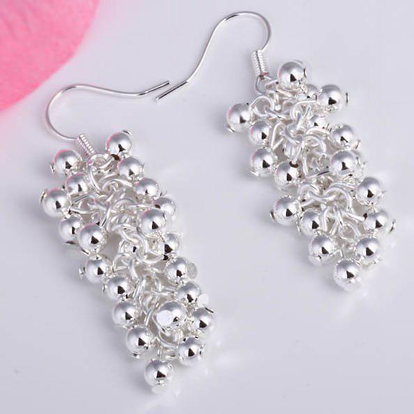 Groothandel - laagste prijs kerstcadeau 925 Sterling zilveren mode oorbellen E008
