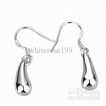 도매 - 최저 가격 크리스마스 선물 925 스털링 실버 패션 귀걸이 E036