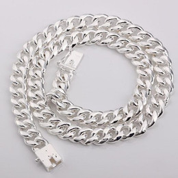 Argentina Al por mayor - Precio de venta al por menor regalo de Navidad 925 plata moda 10 mm collar N011 Suministro