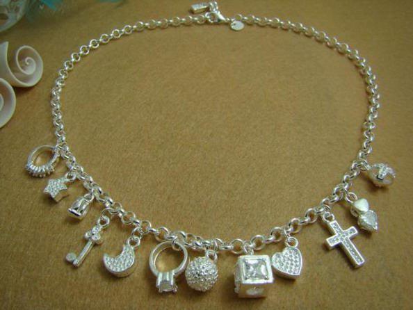 Commercio all'ingrosso - regalo di Natale di prezzi più bassi al dettaglio, spedizione gratuita, nuova collana di moda in argento 925 yN021