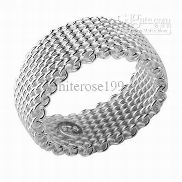 Partihandel - Retail Lägsta pris Julklapp, Gratis frakt, Ny 925 Silver Fashion Ring R40