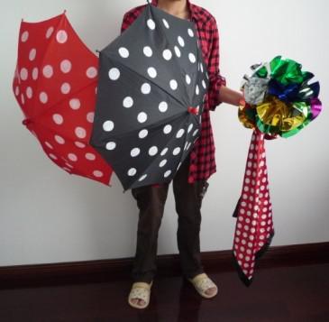 Polka Dot Silk Umbrella - Zaubertrick, magische Requisiten, magisches Spielzeug, Zaubershow, Sonnenschirmproduktion