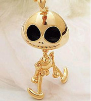 Wholesale Ghost Pendants - Punk Big Eye Ghost Skull Pendant Necklace New