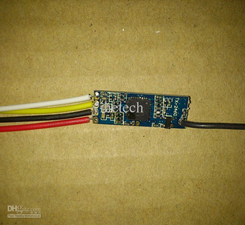 thin PCB 2.4GHz 100mW mini wireless transmitter Audio Video Transmission Module