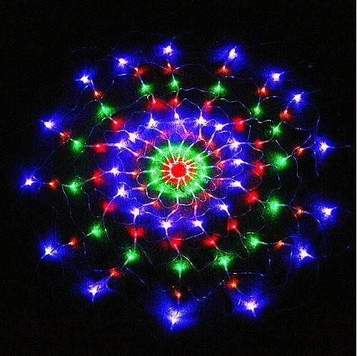 fairy indoor outdoor Colorful 120 LED Net Light For Christmas Party EU UK US AU plug 1.2m