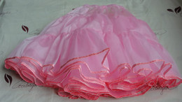 Wholesale Satin Gowns Skirts Petticoats - Pink Color Women's Skirt NEW 50'S ROCK SQUARE DANCING PETTICOAT   SKIRT Free Shipping