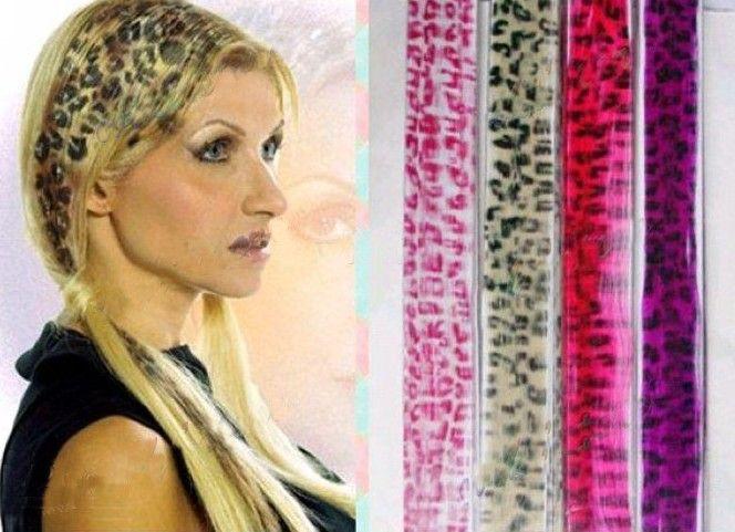 Stylish leopard print clip in hair extensionanimal print hair20 stylish leopard print clip in hair extensionanimal print hair20 colours200pcslot new arrival pmusecretfo Choice Image
