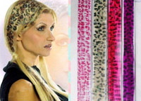 Wholesale Leopard Print Extensions - stylish leopard print Clip-in hair extension,animal print hair,20 colours,200pcs lot new arrival