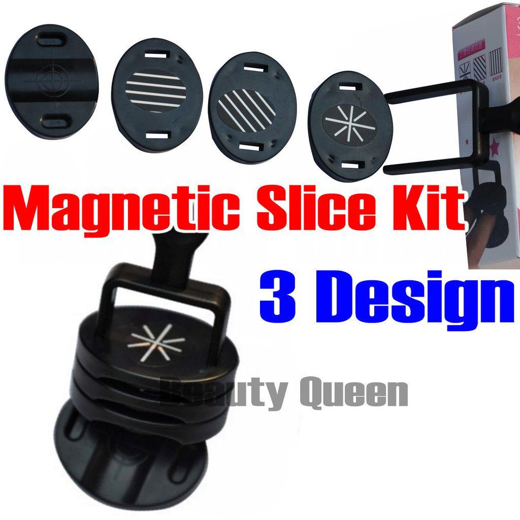 Hot Sale! 3 Design Magnetic Slice Tips Kit For Nail Art Magnetic ...