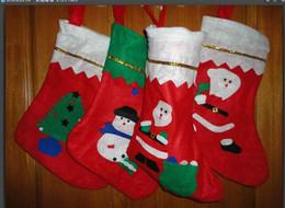 Wholesale Flocked Cloth - Dropshipping Christmas socks \ Christmas gift,Christmas stockings large decals,Christmas gift socks. 80pcs lot free shipping