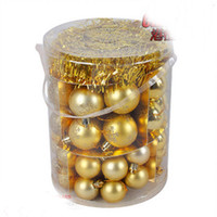 Wholesale Plastic Trees Model - High quality Christmas tree decoration Package B Gold Series pendant models (70 sample loading)free shipping