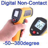 Wholesale Health Degrees - Digital Non-Contact Laser IR Thermometer -50 degree to 380 degree,freeshipping dropshipping