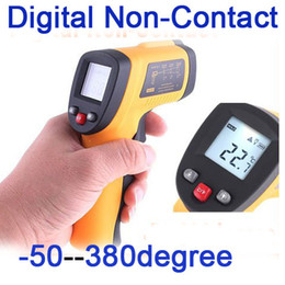 Wholesale Health Care Infrared Thermometer - Digital Non-Contact Laser IR Thermometer -50 degree to 380 degree,freeshipping dropshipping