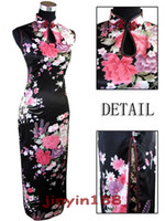 Wholesale Sleeveless Cheongsam - Sexy Chinese Womens Satin Evening Dress Cheongsam wedding dress free shopping ! J5113