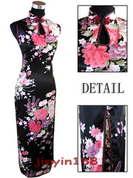 Wholesale ankle shop - Sexy Chinese Womens Satin Evening Dress Cheongsam wedding dress free shopping ! J5113