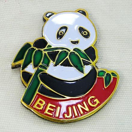 Small Cloisonne Panda Magnetic Refrigerator Sticker Icebox Magnet Chinese style Fridge Magnet Stickers