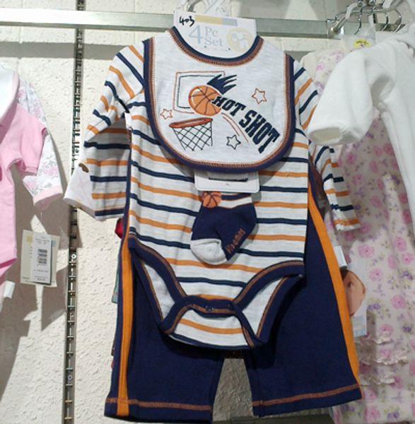 4 pcs conjuntos Vitaminas bebê Oneises roupas Macacão Chapéu Bib Meias Pant pijama romper Bodysuits # 1624