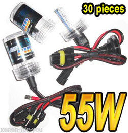 Wholesale Xenon H1 Kit - 30 PAIRS 55W HID XENON SPARE REPLACEMENT BULBS LAMPS LIGHTS H1 H3 H3 H7 9004 5(HB1 HB3) 9006 7(HB4 5
