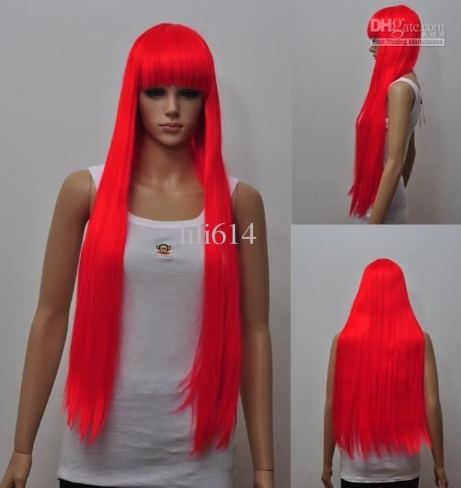 wigs 70cm long red wigs party wigs halloween wig cosplay wigs long pink cosplay wig red hair wigs from lili614 11759 dhgatecom - Red Wigs For Halloween