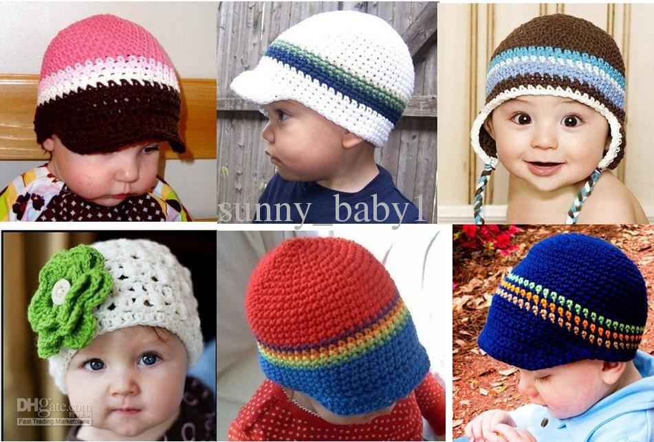 Großhandel Wow Förderung Verkauf !! Baby Handmade Häkeln Mützen ...