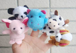 Wholesale Wholesale Toy Stores - Sunshine store 5000pcs Free Shipping Baby Plush Toy,animal finger Puppets,Talking Props(10