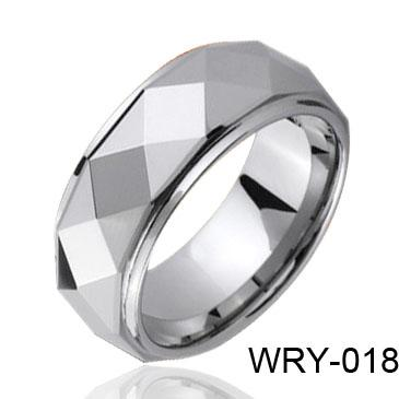 Mannen Tungsten Ring Facet Tungsten Ring Wry-018 Hot Sales