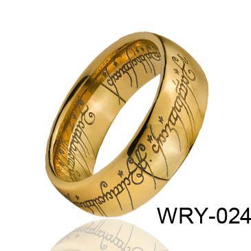 18k Pozłacany Pierścień Tungsten Kopuła Magia Tungsten Pierścień WRY-024 Gorąca sprzedaż