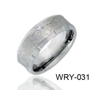Finger Ring Laser Celtic Tungsten Ring Heren Ring Wry-031 Hot Sales