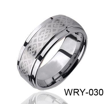 패션 쥬얼리 반지 레이저 켈트 텅스텐 반지 남자 반지 WRY-030 뜨거운 판매