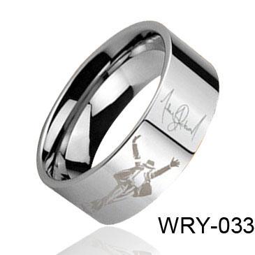 Personlig bild Laser Hot Sales Tungsten Ring Wry-033 Hot Sales