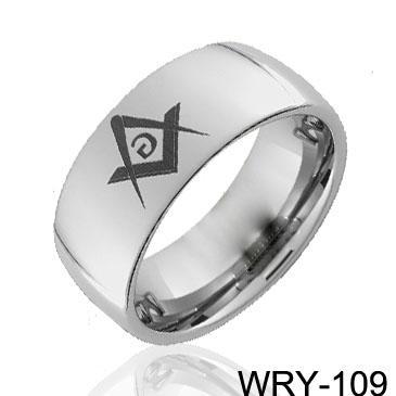メーソニックタングステンリングの高鮮やかなタングステンリングウェッディングリング、婚約指輪
