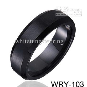 남자를위한 결혼 반지 블랙 도금 텅스텐 반지 웨딩 밴드 약혼 반지