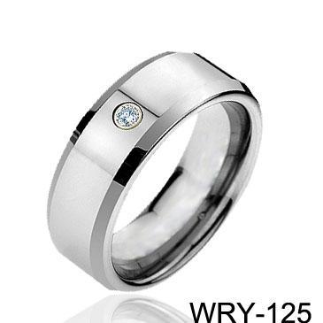 다이아몬드 반지 초경 텅스텐 반지 패션 보석 웨딩 밴드 남자 약혼 반지