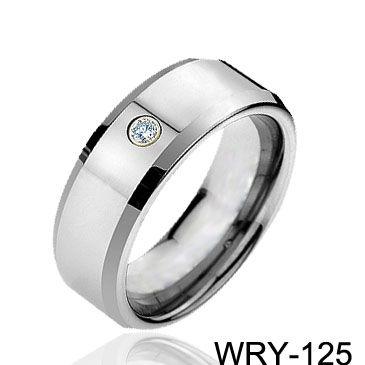 Anelli di diamanti Anelli in tungsteno di carburo fasce gioielli da uomo anelli di fidanzamento