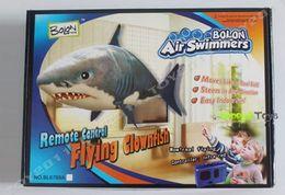 Remote Control Air Flying Shark Canada - Air Swimmers Remote Control Flying Shark & Clownfish Flying Nemo Toys 1pcs