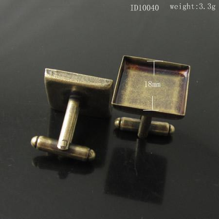 Beadsnice Großhandel ID10040 Top-Qualität Messing Manschettenknopf Zubehör Französisch Manschettenknopf Rücken benutzerdefinierte Manschettenknöpfe Leerzeichen