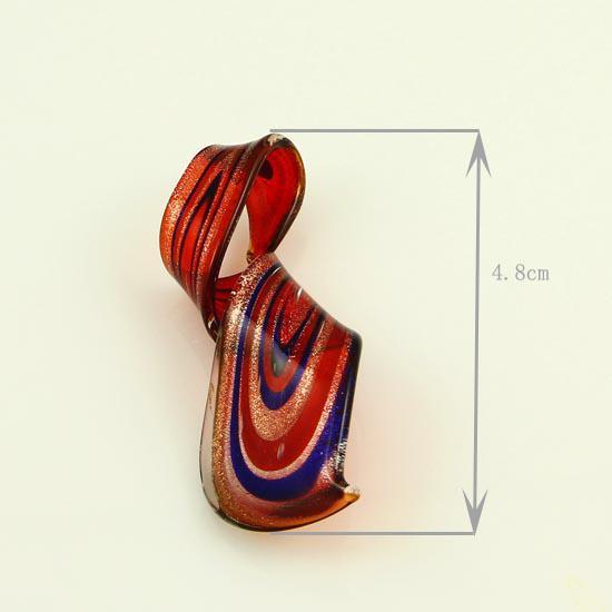 Güzel folyo büküm İtalyan venedik lampwork şişmiş murano cam kolye için kolyeler takı el yapımı ucuz moda takı Mup096