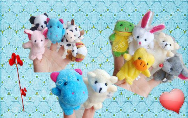 nuevos animales que vienen juguete de la marioneta del dedo, juguete temprano de Eductional, amante de los bebés 10 clases para eligen