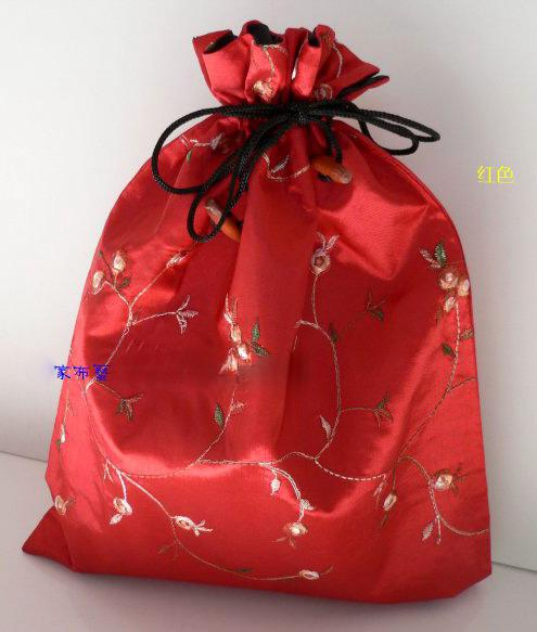 Wholesale cheap CHINESE HANDMADE EMBROIDERD SILK Shoe Parts SHOE BAGS