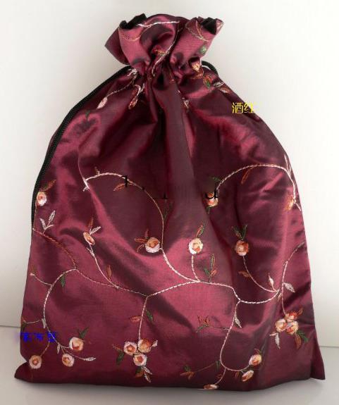 Partihandel Billiga Kinesiska Handgjorda Broderd Silk Shoe Parts Sko Väskor