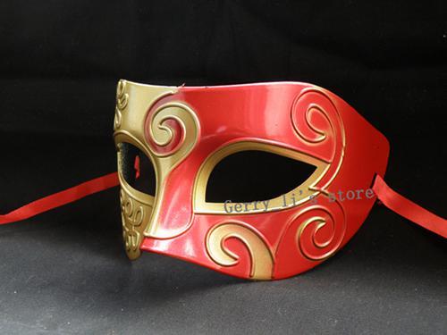 Blaue Patchwork Halbe Gesichtsmaske Halloween Maskerade Masken Venezianische Tanzparty Maske Für Männer snd Frauen
