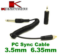 Wholesale Screw Cord Lock - Yongnuo RF-603 PC to 3.5mm 6.35mm Flash Sync Cable Cord With Screw Lock For Studio Strobe Light