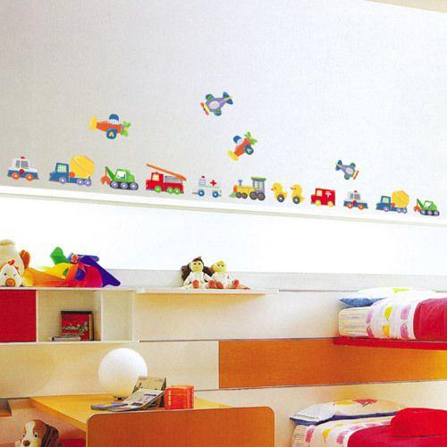 Tc Boy Room Duck Car Transpotation Wall Decal Sticker Decor - Kids wall decals boys