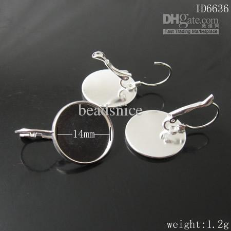 Base orecchini Beadsnice senza pietra i tuoi gioielli che producono ottone con fili orecchini francesi ID 6335